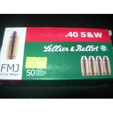 Metak Pistoljski .40 S&W, Sellier & Bellot