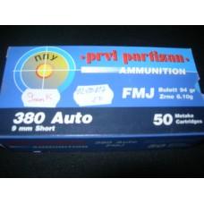 Metak Pistoljski 380 Auto (9x17), Prvi Partizan
