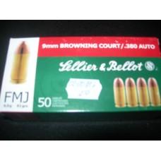 Metak Pistoljski 9mm Brow.Court/ 380 Auto, Sellier & Bellot