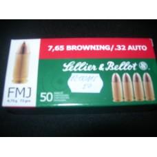 Metak Pistoljski 7.65 Browning/ .32 Auto, Sellier & Bellot