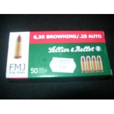 Metak Pistoljski 6.35 Browning/ .25 Auto, Sellier & Bellot